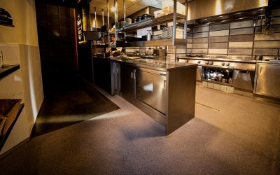 Un piso de cocina higiénico en HORECA